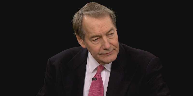Is Television talk show host, Charlie Rose, happy with his partner Amanda Burden?