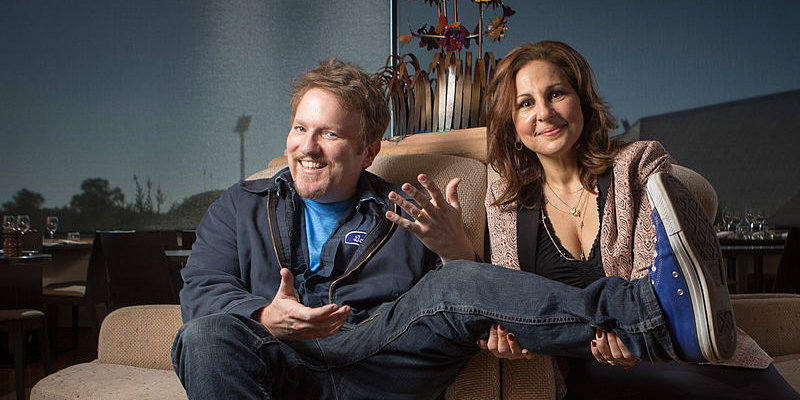 Kathy Najimy and Dan Finnerty announced as most attractive couple of the town.