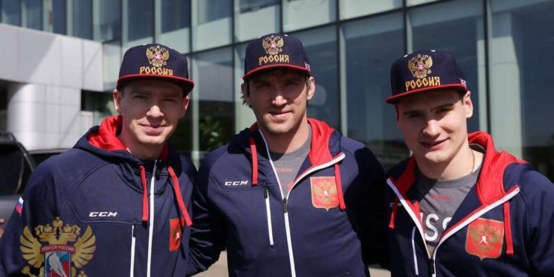 Alex Ovechkin, Evgeny Kuznetsov and Dmitry Orlov join Russia for world championships