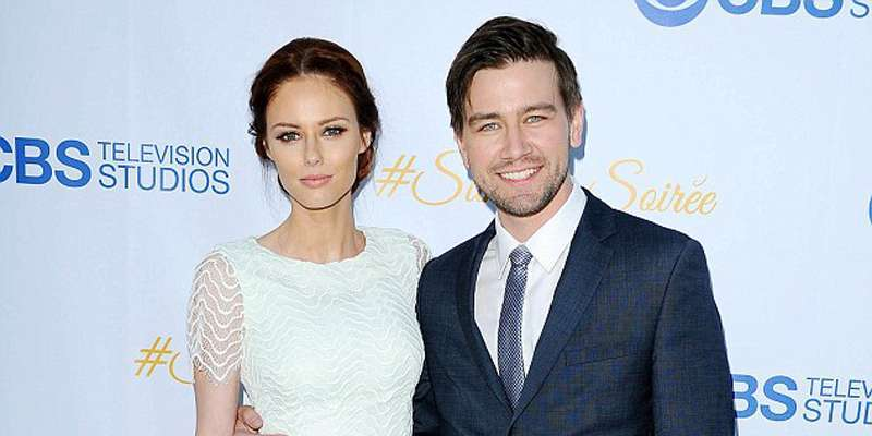 Canadian actor Torrance Coombs and model Alyssa Campanella married in Santa Ynez, California