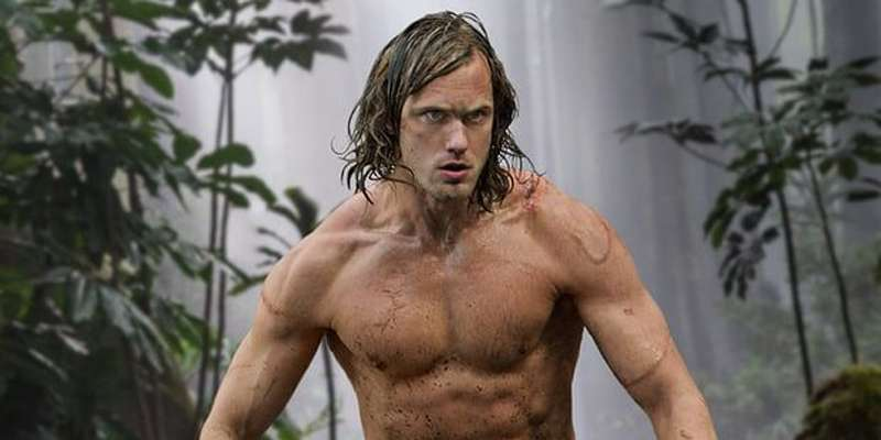 Alexander Skarsgard shows off an incredibly chiseled body in 'The Legend of Tarzan' poster