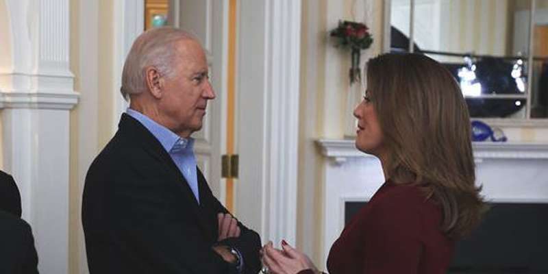 CBS' Norah O'Donnell wants to hold a long and detalied interview with vice president Joe Biden