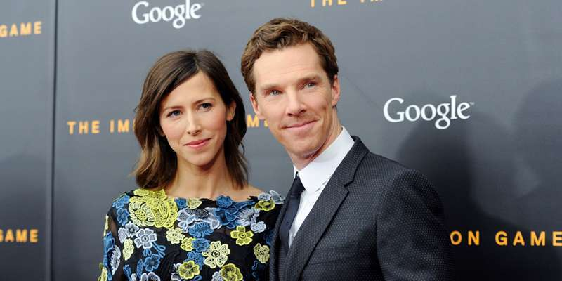 Sophie Hunter and Benedict Cumberbatch enjoy a romantic sunset as they spend a quality time