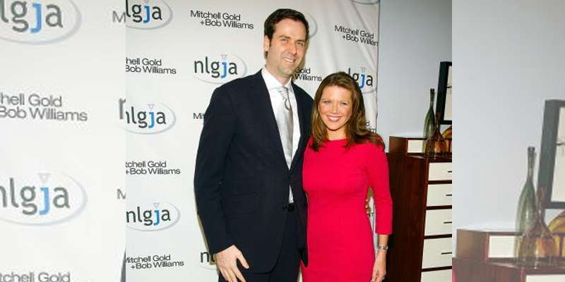Trish Regan with her husband James A. Ben