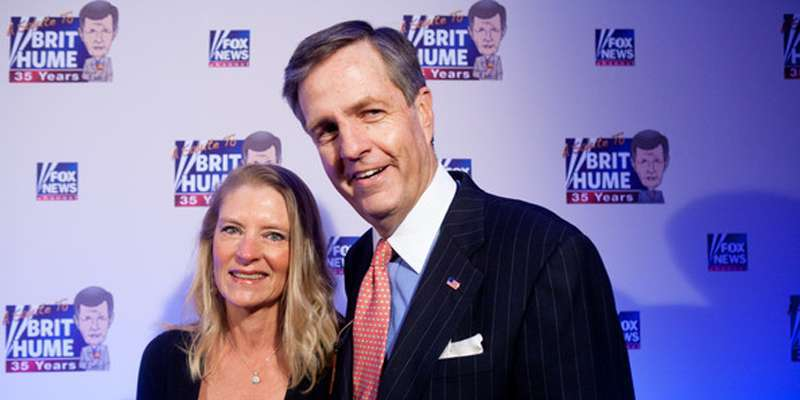 Brit Hume and wife Kim Hume married but not without some divorce rumors; their 3 children (one dead)
