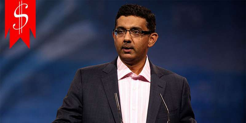 Dinesh D'Souza earned his net worth and salary through sheer dedication in his career