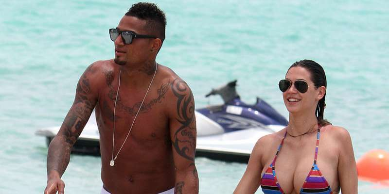 Melissa Satta and her boyfriend Kevin Prince Boateng married as husband and wife look delighted