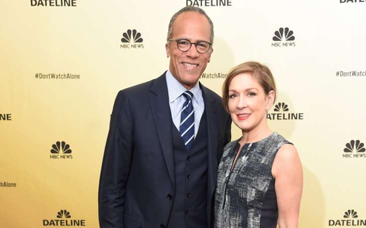 Husband Lester Holt with her married wife Carol Hegan