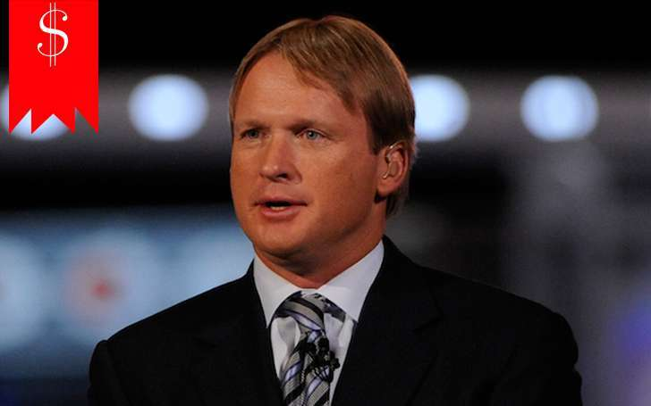 With net worth of $22.5 million and salary of $6.5 Million, Jon Gruden one of the richest analysts
