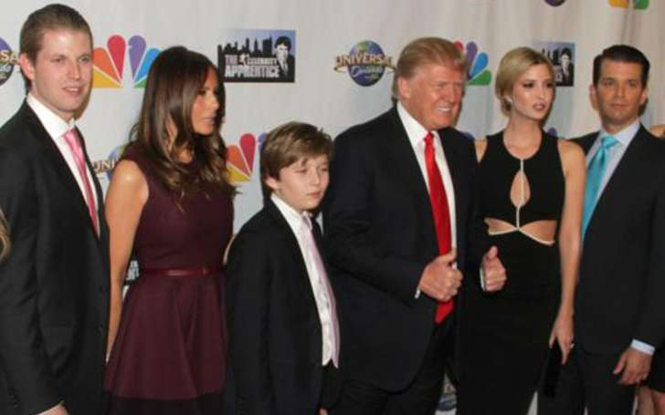 What's Barron Trump and Eric Trump relationship with their father Donald Trump?