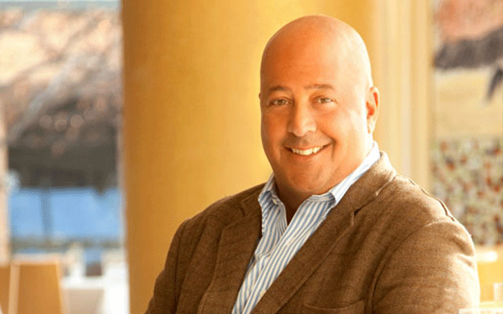 Andrew Zimmern married to wife Rishia Haas since 2002 with son Noah. See Relationship