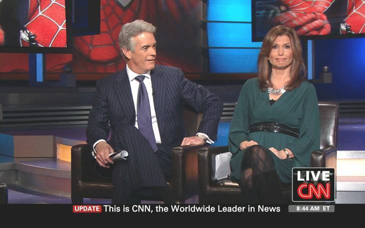 Image: Carol Costello and husband Timothy Law Synder on CNN show