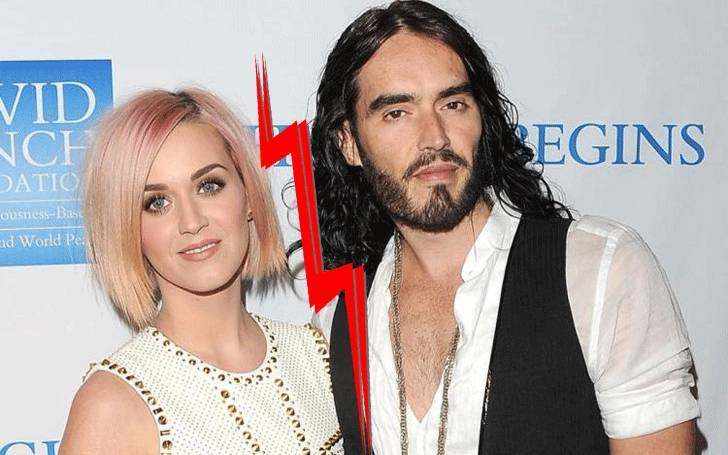 Katy Perry with her ex-husband Russell Brand