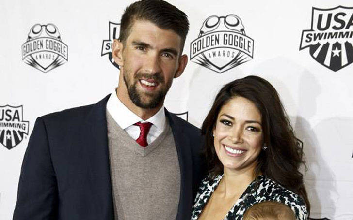 Michael Phelps and his wife Nicole Michele, wedded twice; Son witnessed their wedding