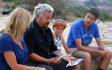 Guy Fieri married Lori Fieri and is living happily as husband and wife together with children