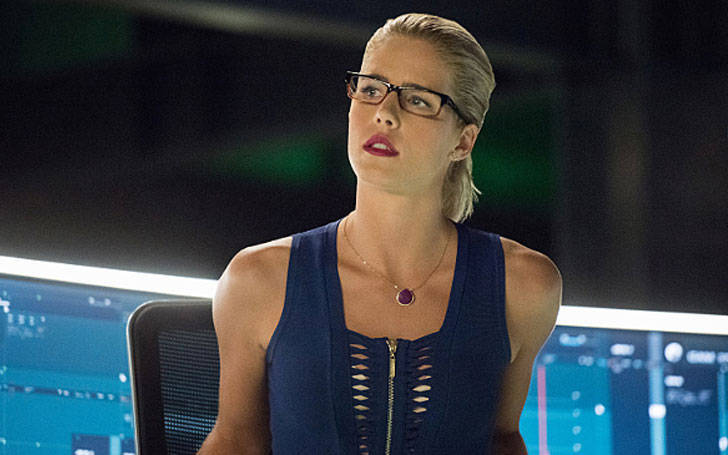 emily bett rickards happy to find new boyfriend in arrow