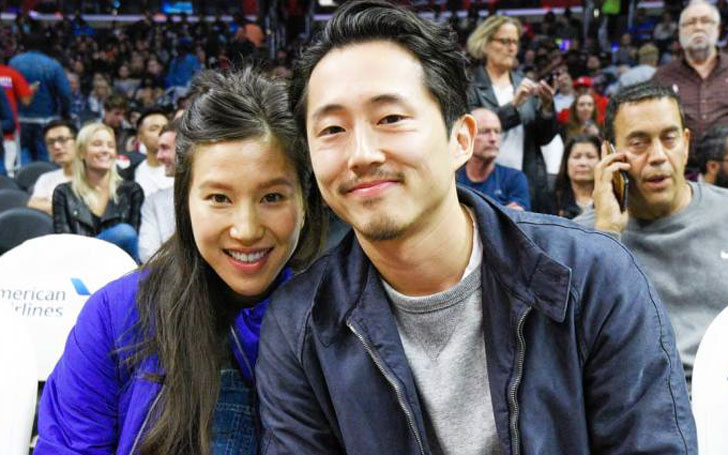 Congratulation! Steven Yeun and his wife Joana Pak welcomes a new baby boy