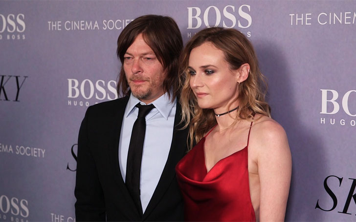 norman reedus diane kruger walking dead actor costar spark dating rumors