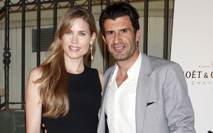 Helen Svedin Married Luis Figo and living Together as husband and wife with their children