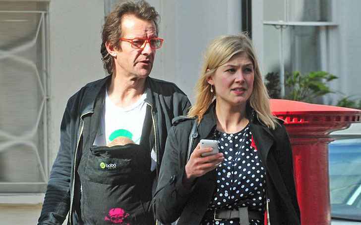 Rosamund Pike is in Relationship with Robie Uniacke; Are they Married? Children?