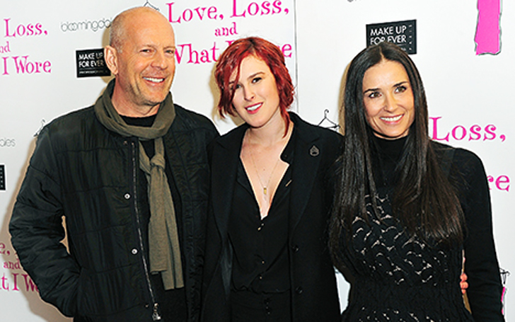 Demi Moore and  Rumer Willis  family and personal life