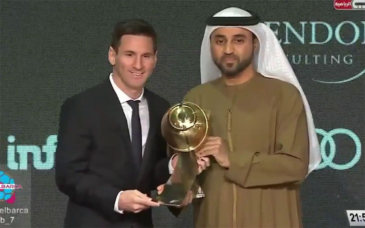 The Globe Soccer Awards For Lionel Messi