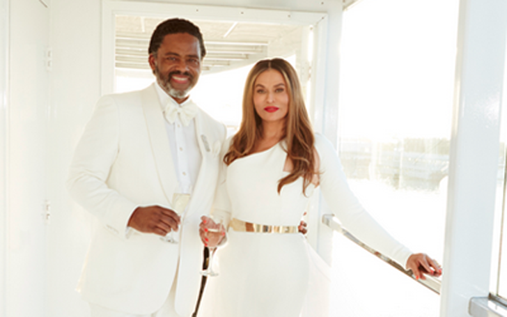 Tina Knowles and Richard Larson