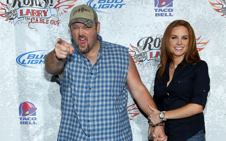 Larry the Cable Guy with beautiful, Wife Cara Whitney