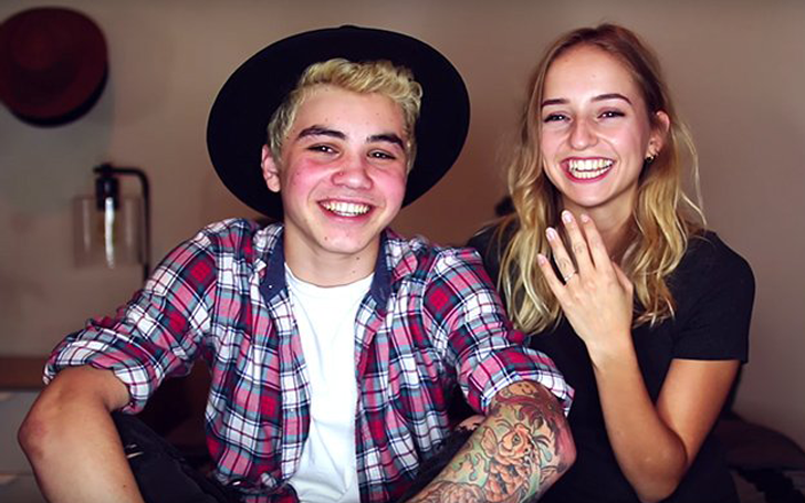 Sam Pottorff got engaged to his girlfriend, actress Rosa ...