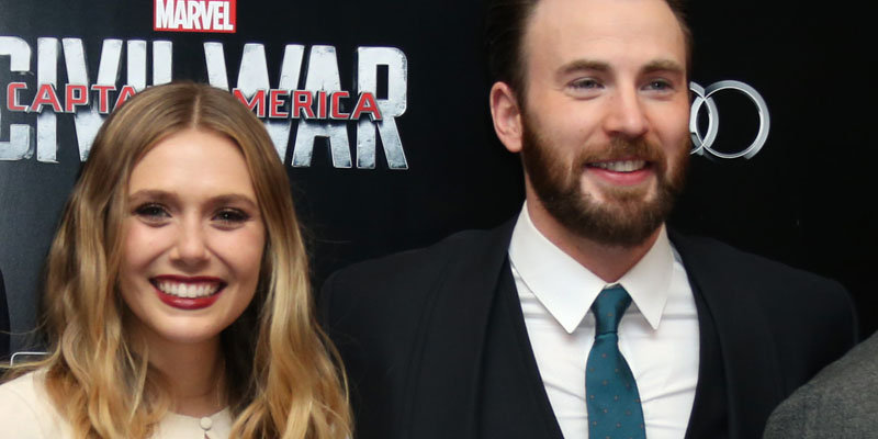 chris evans and elizabeth olsen