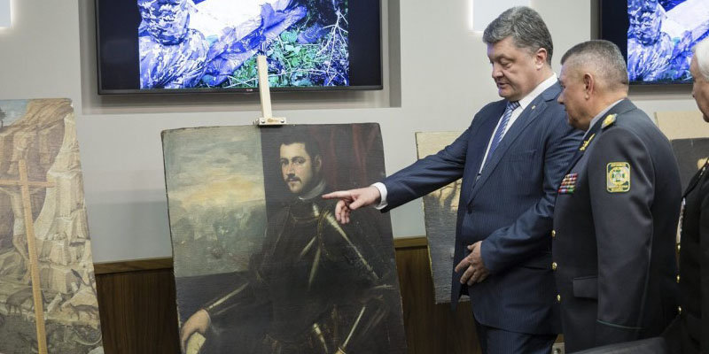Masterpieces stolen from a museum in Verona recovered on an island between Ukraine and Moldova.