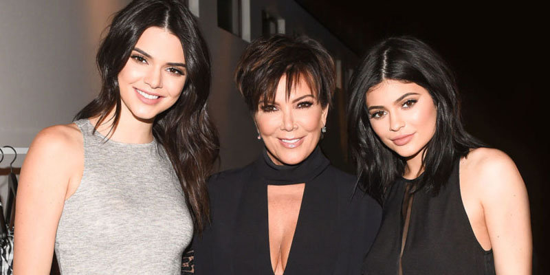 Kendall and Kylie with their mother Kris Jenner