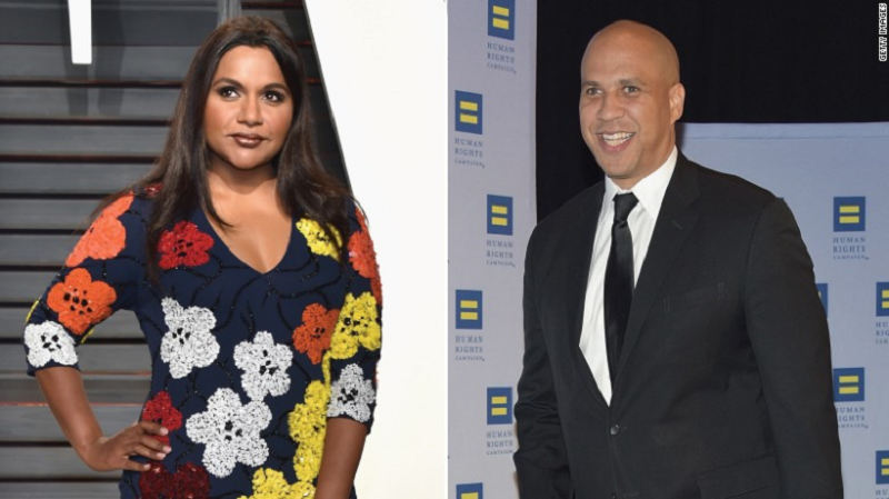 Former New Jersey Sen. Cory Booker and Mindy Kaling Modern Social Media led Date in Newark museum
