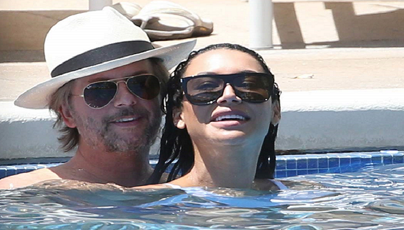 girlfriend Naya Rivera with her girlfriend David Spade