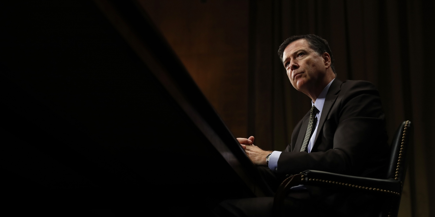 American President Donald Trump Fired FBI Director James Comey