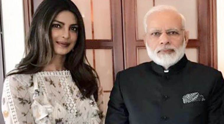 Bollywood Actress Priyanka Chopra Meets The Indian Prime Minister Narendra Modi In Berlin