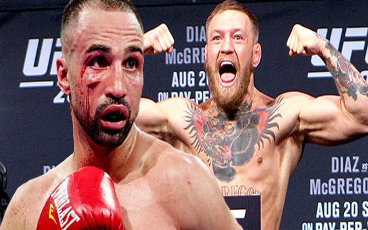 Conor McGregor knocked down sparring partner and former world boxing champion Paulie Malignaggi