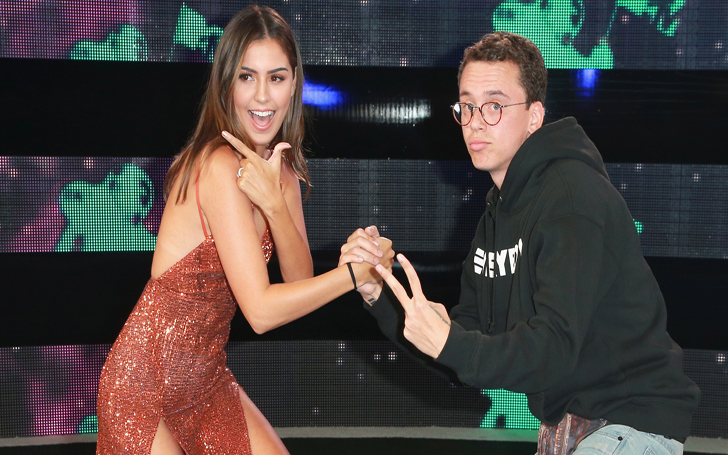Rapper Logic And His Wife Jessica Andrea Hit The Carpet at MTV VMAs 2017! With Their Best Poses