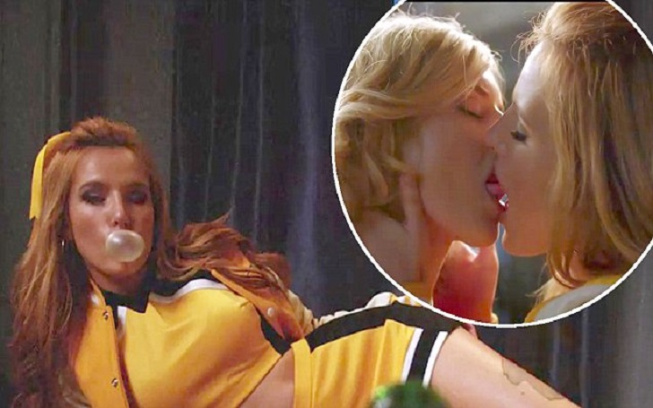 Bella Thorne's Steamy Kiss With Co-Star Samara Weaving In New Horror Film The Babysitter