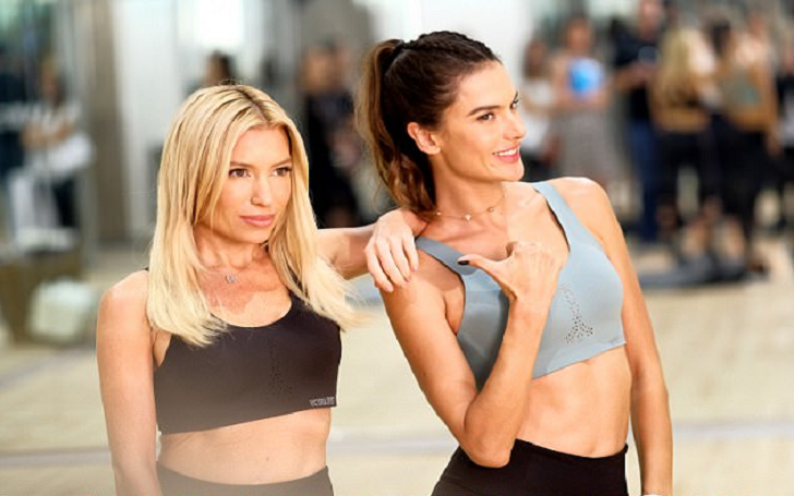 Alessandra Ambrosio Flashes Her Abs While Doing Victoria's Secret Workout With Tracy Anderson