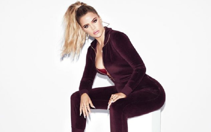 Khloe Kardashian Shows A Hint Of A Baby Bump In New Good American Promo Picture
