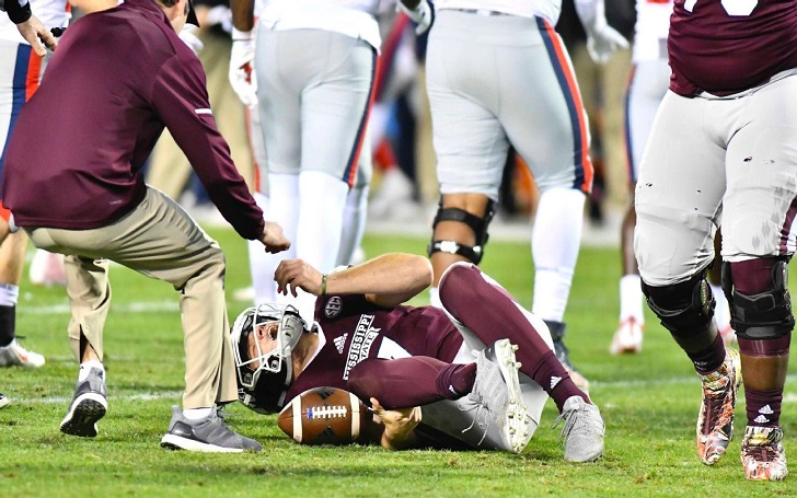 Mississippi State Quarterback Ankle >> Mississippi State Bulldogs' Nick Fitzgerald Suffers Ankle Injury In Loss to Ole Miss