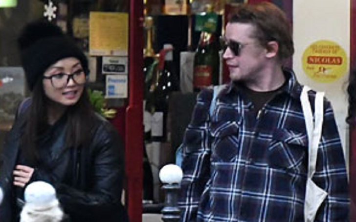 Macaulay Culkin & His Girlfriend Brenda Song Go Grocery Shopping in Paris Together