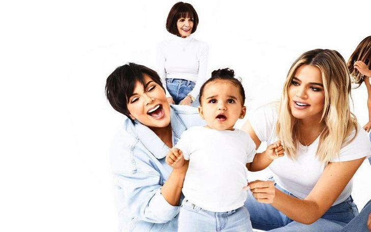 Khloe Kardashian and Kris Jenner with Rob and Chyna's Daughter Dream in New Christmas Card Photo