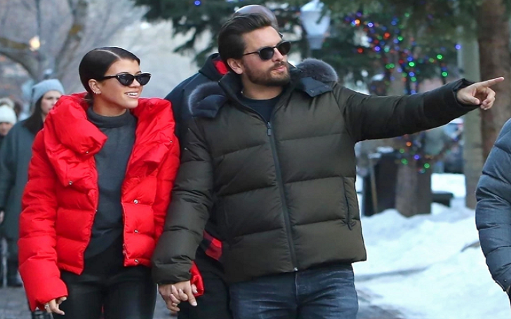 New Year Special: Scott Disick and Sofia Richie Playfully Goof Around in Aspen