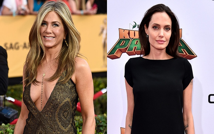 Angelina Jolie IGNORES Jennifer Aniston at the 2018 Golden Globes
