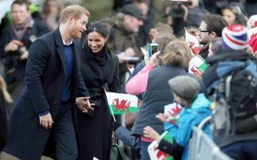 Pair To-Wed, Prince Harry and Meghan Markle Visit Cardiff Castle in Wales
