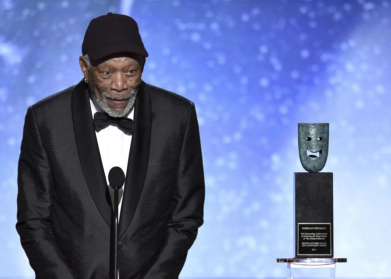 Morgan Freeman Calls Out One From The Crowd During SAG Awards
