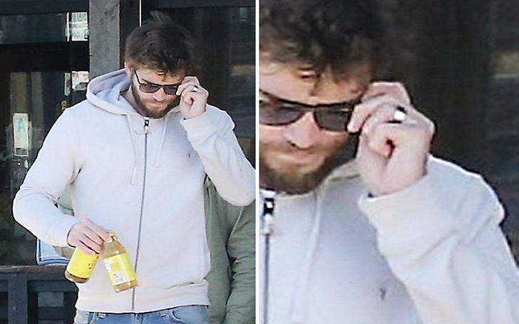 Liam Hemsworth Was Spotted In Malibu Wearing What Looks Like A Wedding Ring