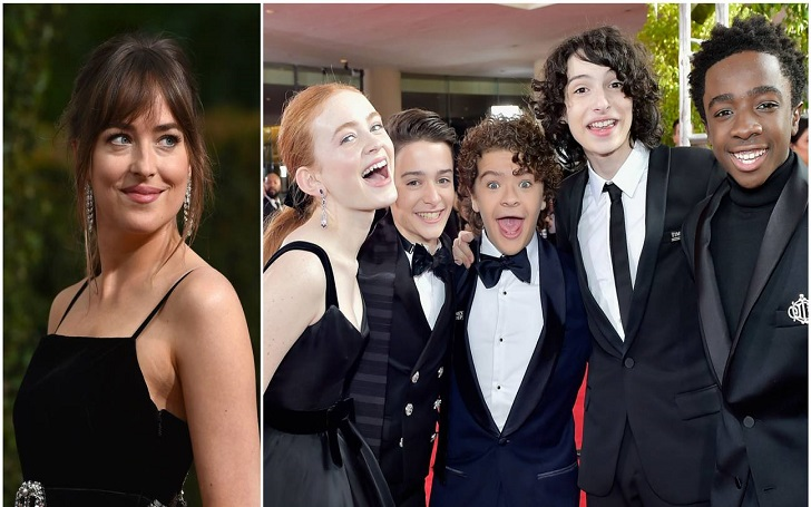 Dakota Johnson Couldn't Help But Ogle The Stranger Things Kids in A Room Full of Stars